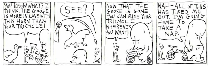 Tricycle and the goose 8
